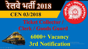 exam pattern of goods guard railway recruitment 2018 for ticket collector clerk and goods