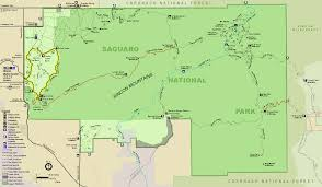 Map Of National Parks In Usa Saguaro National Park Wikipedia