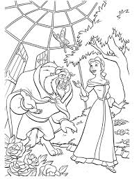 free beauty beast coloring pages