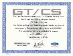 2012 ford mustang gt cs specs mustang gt cs official certificate packages now available