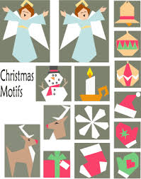 last minute christmas motifs paper pieced quilt pattern at