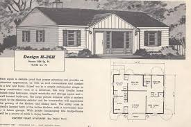 vintage house plans mid century houses 1950s homes home