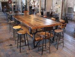 reclaimed kitchen islands industrial reclaimed wood plank top conference table kitchen island