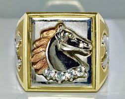 mens rings for sale vintage mens horseshoe ring etsy