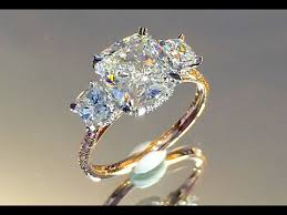 3 engagement ring 3 carat cushion cut diamond 3 engagement ring