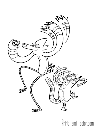 regular show coloring pages regular show coloring pages print out