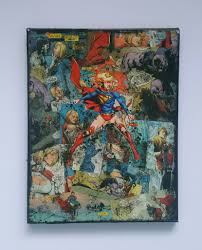 Home Decor Wall Art Supergirl Premium Quality Dc Graphic Canvas By Starkematter
