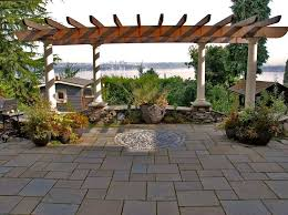 pavers for backyard transitional patio to clearly exteriorscapes