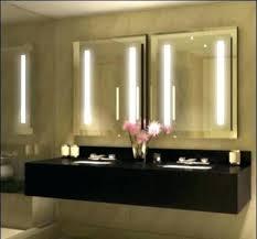 Bathroom Heated Mirror Bathroom Vanity Mirror With Led Lights Lighting Awesome Heated For