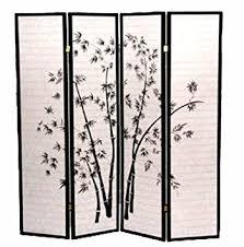 Room Dividers Amazon by Amazon Com Legacy Decor 4 Panel Black Bamboo Print Oriental Shoji