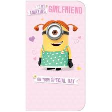 despicable me minion girlfriend birthday card danilo