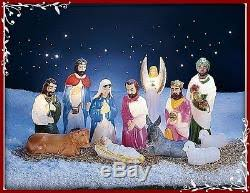 Lighted Nativity Scene Outdoor Christmas Nativity Scene Lighted Display 12 Pc Outdoor Yard Blow