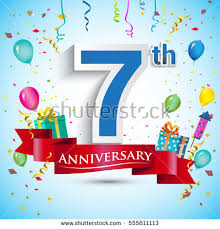 7th year wedding anniversary 7th anniversary stock images royalty free images vectors
