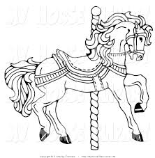 carousel animals colouring pages page 2 inside carousel horse