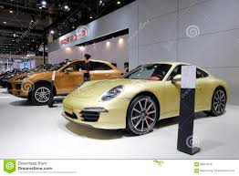 porsche showroom golden porsche 911 carrera s car editorial image image 55938410