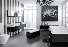 black and white modern bathroom two stainless handle wall mounted