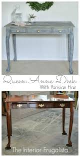 queen anne desk makeover with parisian flair the interior