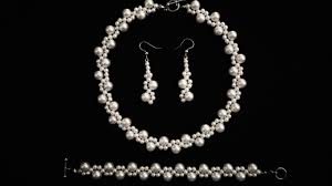 earring necklace bracelet sets images Beginners diy jewelry pearl set beaded necklace bracelet jpg