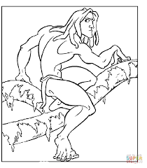 alarmed tarzan coloring free printable coloring pages