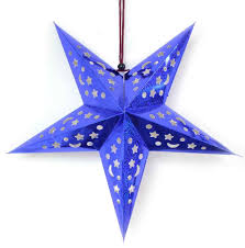 maple craft cutout pointed star hanging decoration 16