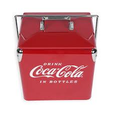 coca cola fridge glass door amazon com classic picnic coolers coca cola sports u0026 outdoors
