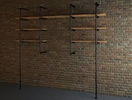 industrial style pipe shelves 3d model cgtrader