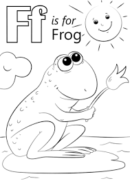 letter frog coloring free printable coloring pages