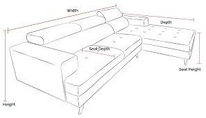 emilio l shape chaise fabric sofa