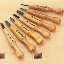 7 woodcarving set in box mikisho