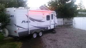 Awning Lights For Rv Led Strip Lights Install On Trailer Youtube