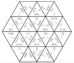 engaging math tarsia puzzle fractions decimals and percents