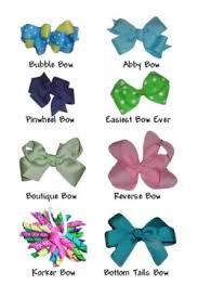 different types of hair bows this picture is just a reference for the name of the bows the