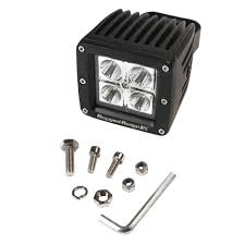Led Lights Bar by Rugged Ridge 3 In Square Led Driving Light Bar 15209 03 The