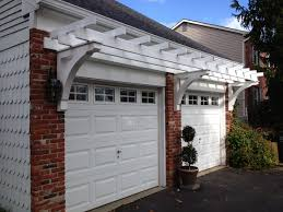garage simple pergola ideas small pergola attached to house