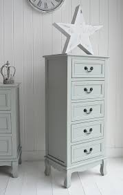 Berkeley Tall Narrow Chest Of  Drawers Grey Painted Furniture - Berkeley bedroom furniture