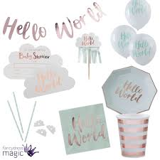 hello baby shower hello world baby shower gender reveal party partyware