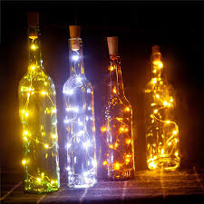 Starry String Lights Amber Lights On Copper Wire by Aliexpress Com Buy Wine Bottle Light 15 Led 75cm Copper Wire