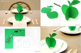 how to make 3d paper apple ornament step by step diy tutorial