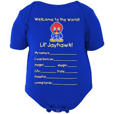royal blue kansas jayhawks newborn welcome to the world creeper royal blue