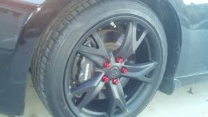 rays anodized lug nuts on factory wheels nissan 370z forum