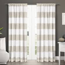 Rugby Stripe Curtains Best Navy And White Rugby Stripe Curtains 2018 Curtain Ideas