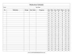 5 best images of free printable medication log sheets haley