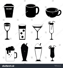 margarita silhouette drink silhouette icons vector stock vector 288557939 shutterstock