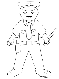 modest police coloring page 19 5393