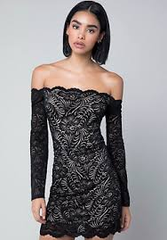 black lace dress lace dresses white black lace bebe