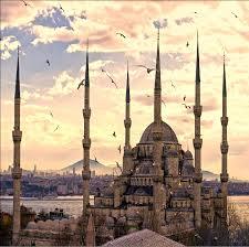 muslim backdrops 10x10ft seagull sea city sunset muslim mosque masjid wedding photo