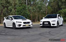 2016 Mitsubishi Lancer Evolution Vs Subaru Wrx Sti Comparison