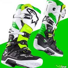 motocross boots alpinestars alpinestars tech 7 motocross boots green yellow v1mx