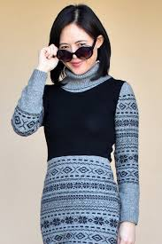 how to make your own sweater dress out of 2 sweaters