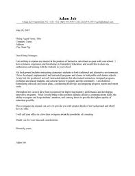 example of a cover letter for student cover letter part time job